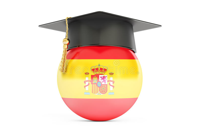 Education in Spain concept, 3D rendering royalty free illustration