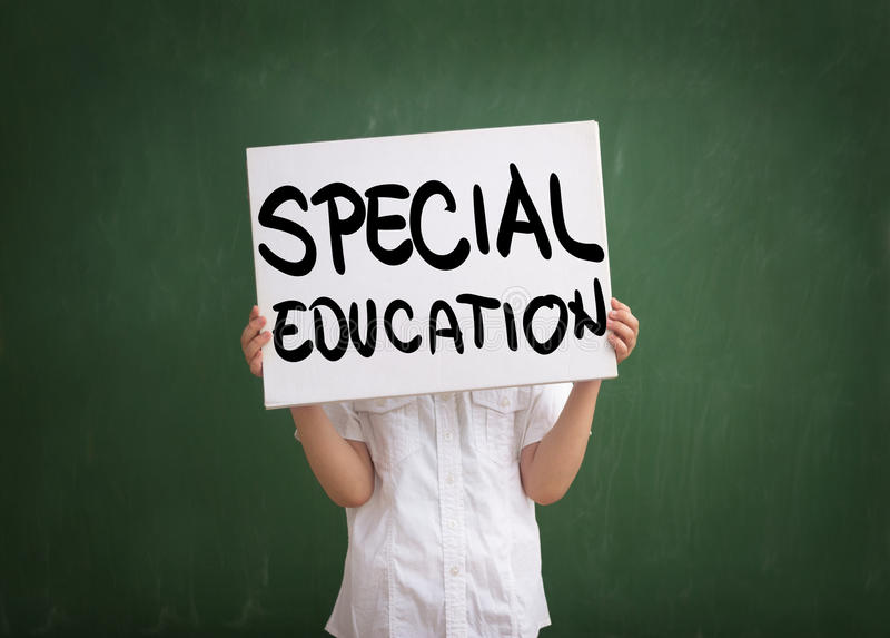 Education for those with special needs royalty free stock image