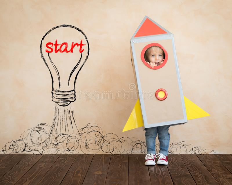 Education, start up and business idea concept stock image