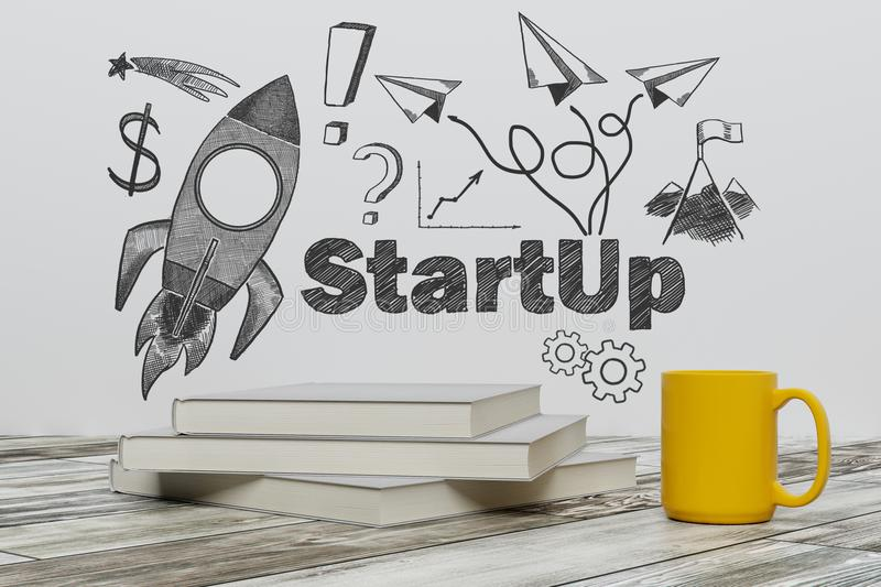 Education and start up concept stock photo