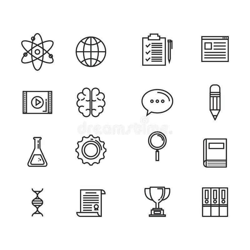 Education supplies set icons vector illustration