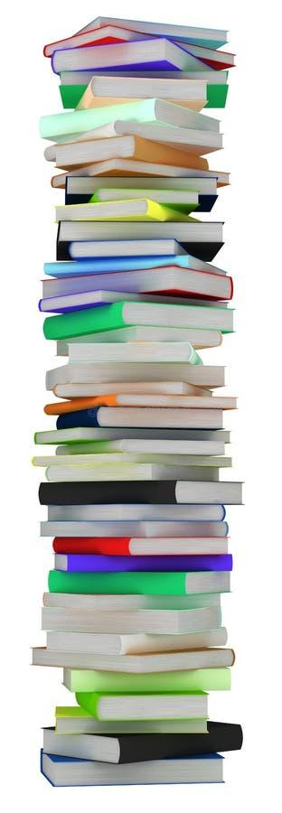 Education. Tall heap of hardcovered books stock illustration