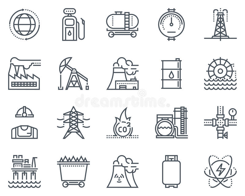 Education theme, flat style, colorful, icon set royalty free illustration
