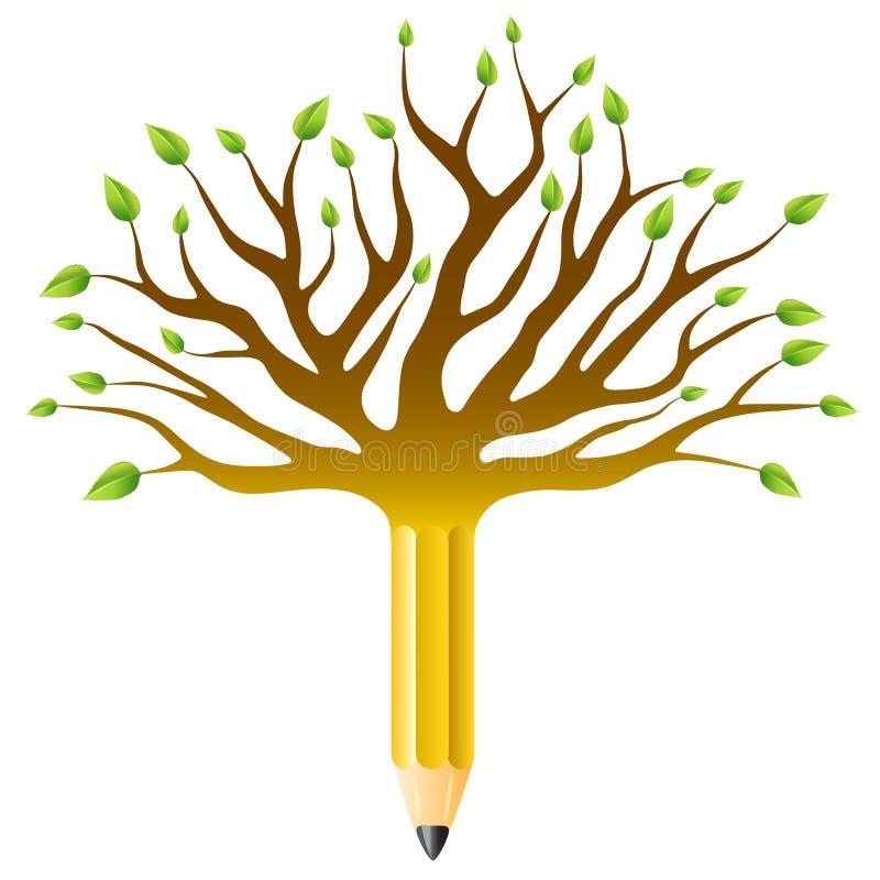Education tree. Education concept, tree pen vector