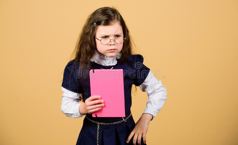 Education what remains after one has forgotten what one has learned school. Back to school. Knowledge day. School stress. Causes anxiety. Serious about studying royalty free stock photos