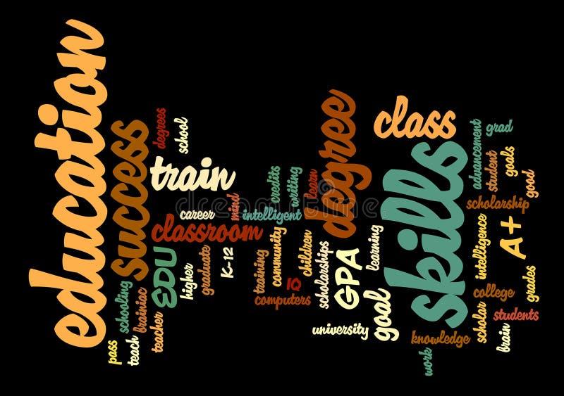 Education Word Tag Cloud Illustration Stock Illustration ...
