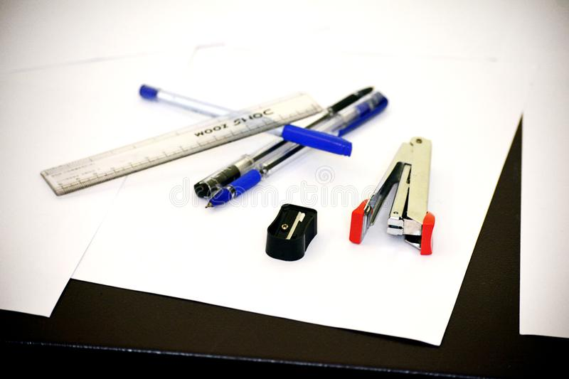Educational accessories for Students stock photography