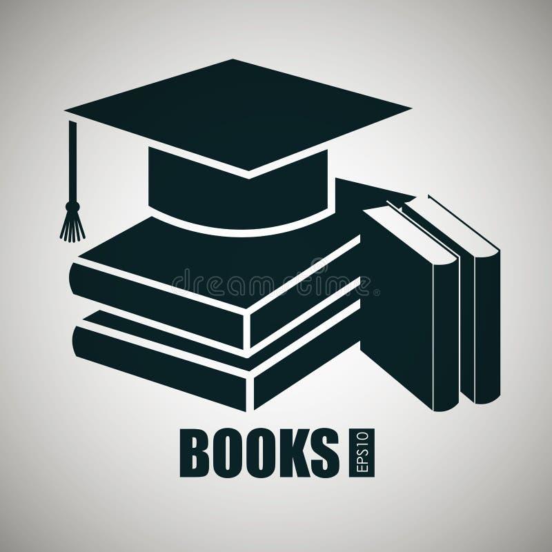 Educational books design. Illustration eps10 graphic royalty free illustration