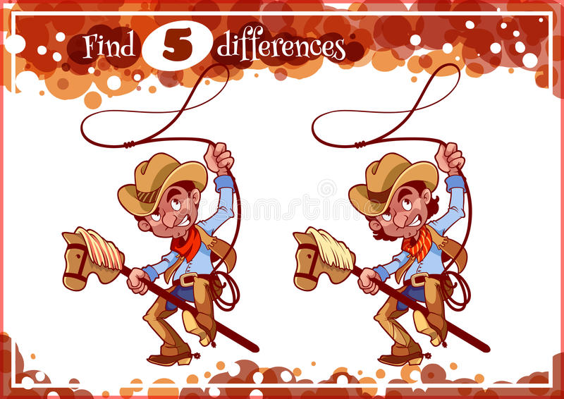 Educational game for preschool kids, find the differences. vector illustration