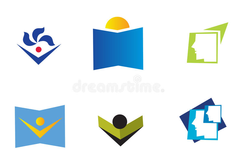Download Educational icons stock vector. Image of icons, bright - 10376560