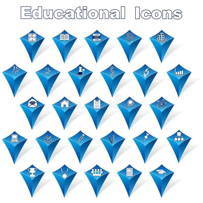 Educational Icons royalty free illustration