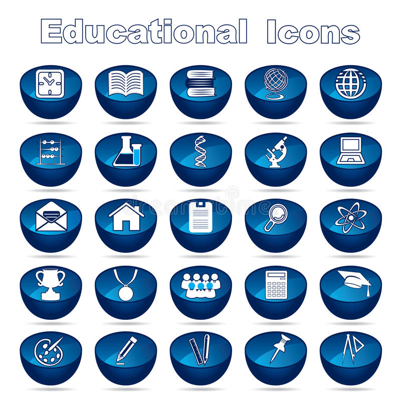 Educational Icons stock illustration