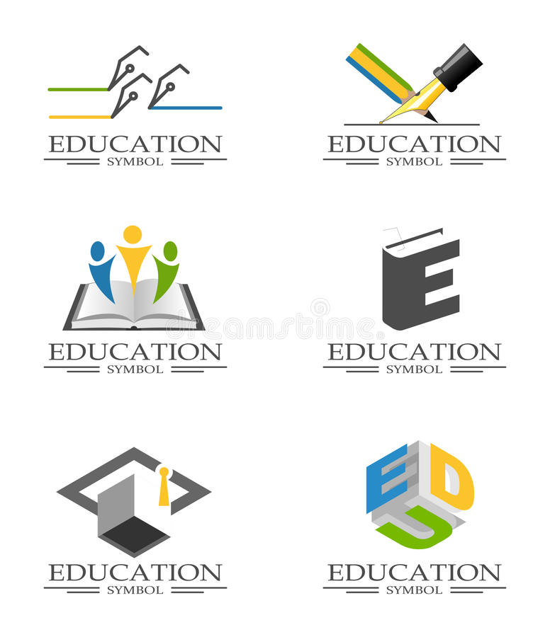 Educational icons stock illustration