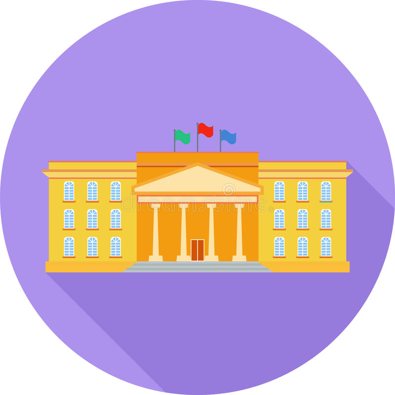 Educational Institution Flat Icon stock images