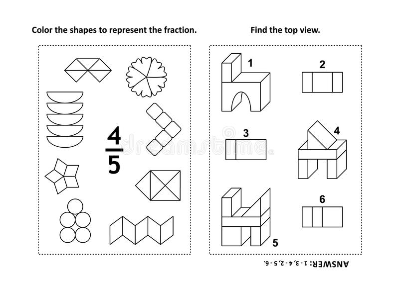fraction coloring pages - Military.bralicious.co