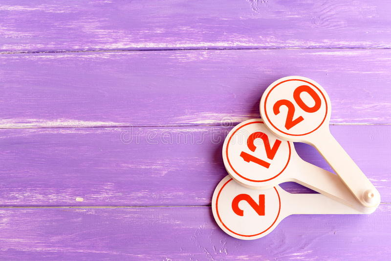 Download Educational Toy To Teach Children Numbers. Learning Toy For Kids On Lilac Wooden Background With Empty Space For Text Stock Photo - Image: 74534442