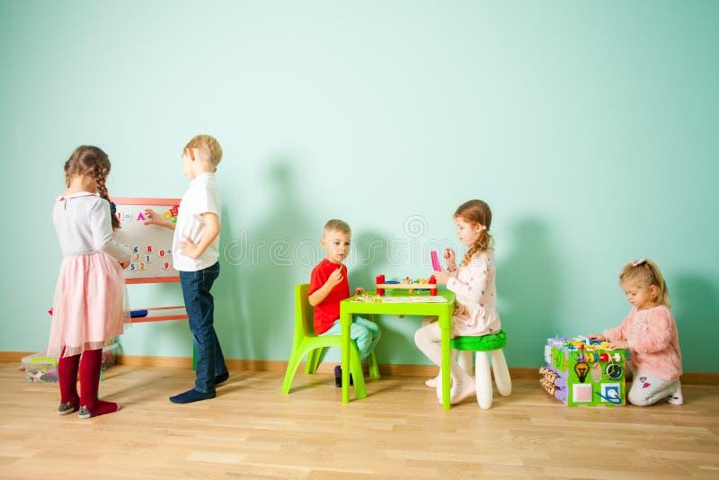 Educational toys for preschool and kindergarten child. stock photo