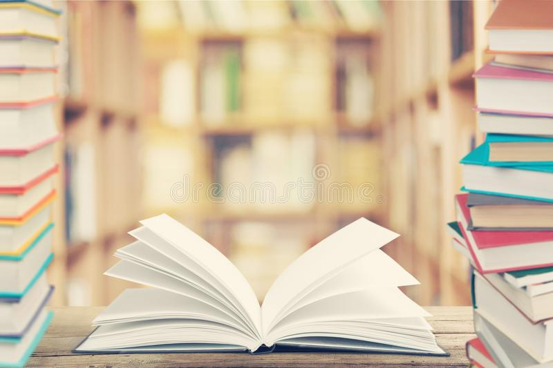 Educator. Literature library book bookshelf librarian literacy royalty free stock images