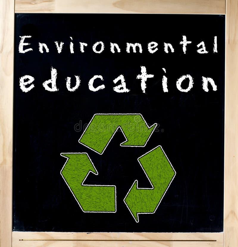 Educazione ambientale sulla lavagna fotografia stock