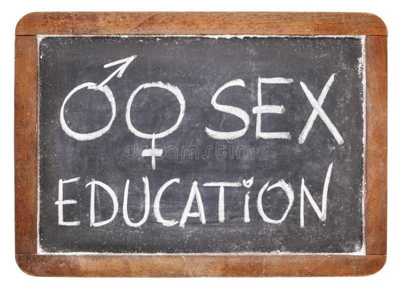 Educazione sessuale sulla lavagna fotografie stock libere da diritti