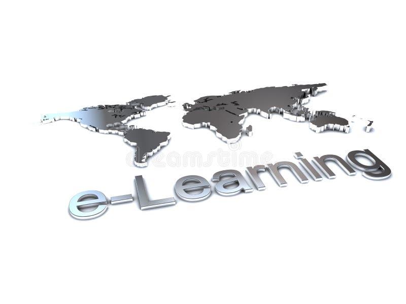 edukaci elearning logo royalty ilustracja