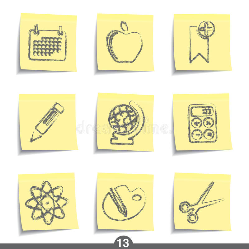 edukaci poczta serie ilustracji