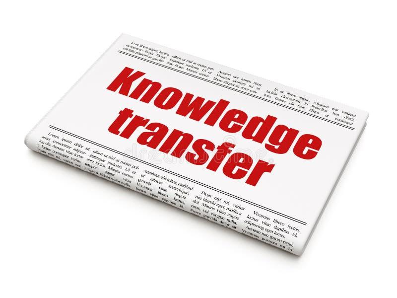 Edukaci pojęcie: nagłówek prasowy wiedza ilustracja wektor