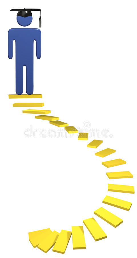 edukaci skalowania prowadzenia spirali schodki studenccy royalty ilustracja