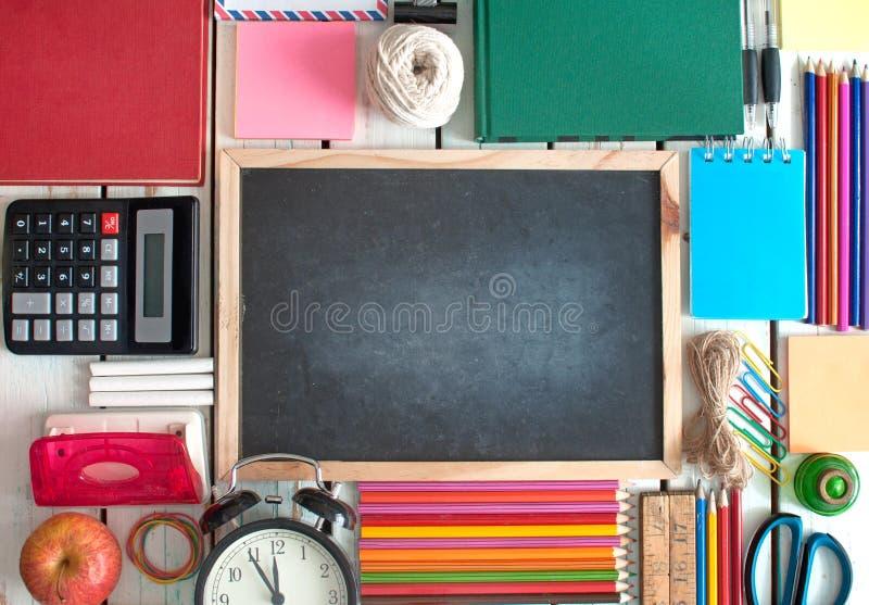 Edukaci szkolnej tła przedmioty zdjęcie royalty free