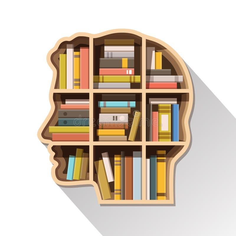 Edukaci, uczenie i wiedzy pojęcie, ilustracja wektor