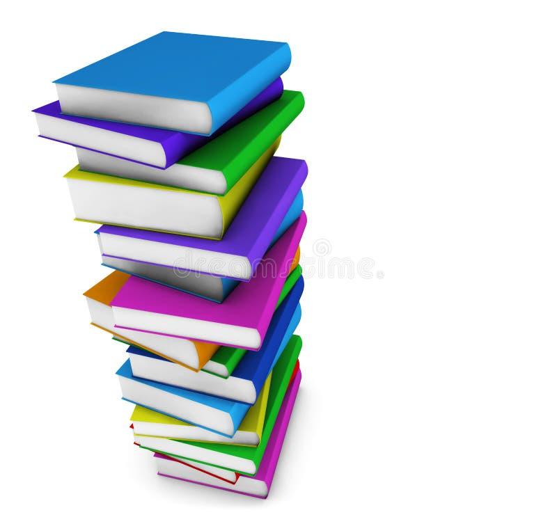 Edukacj Szkolne książki ilustracja wektor
