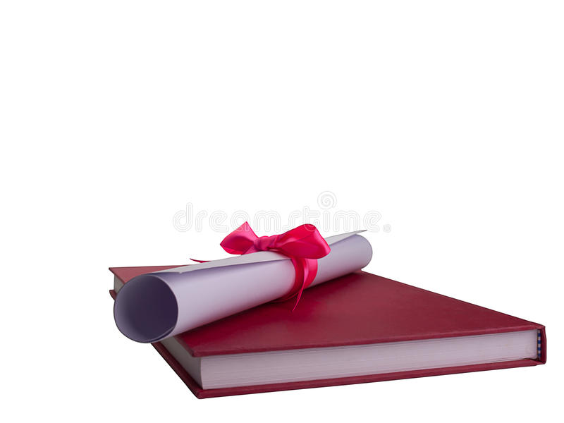 Edukacja dyplom, rewolucjonistki książka Ścinek ścieżka zdjęcie stock