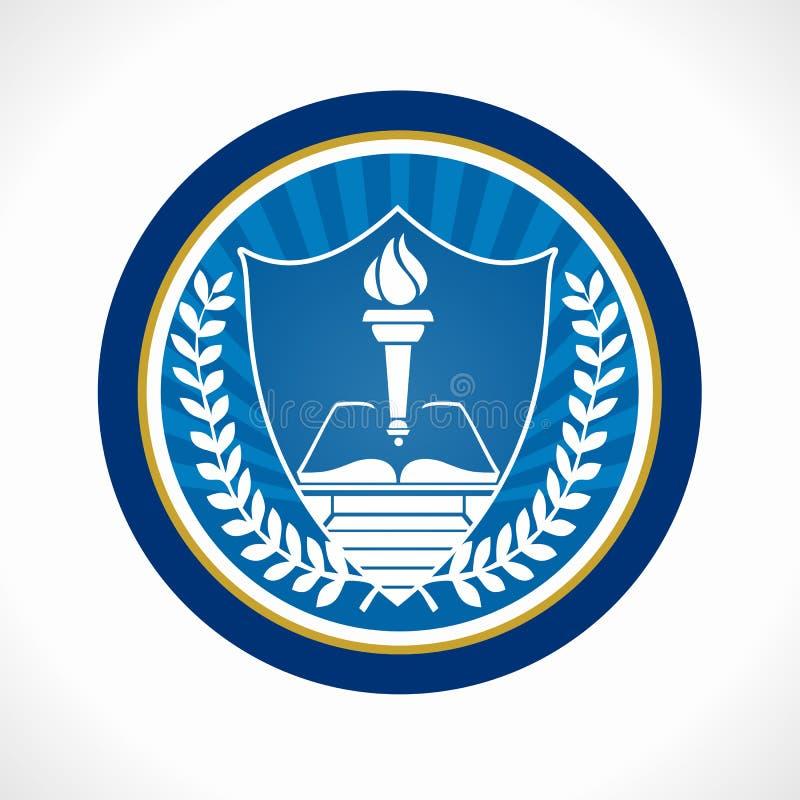 Edukacja emblemat obrazy royalty free