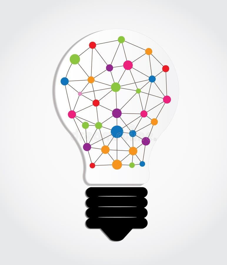 Edukacja i lampa pomysł royalty ilustracja