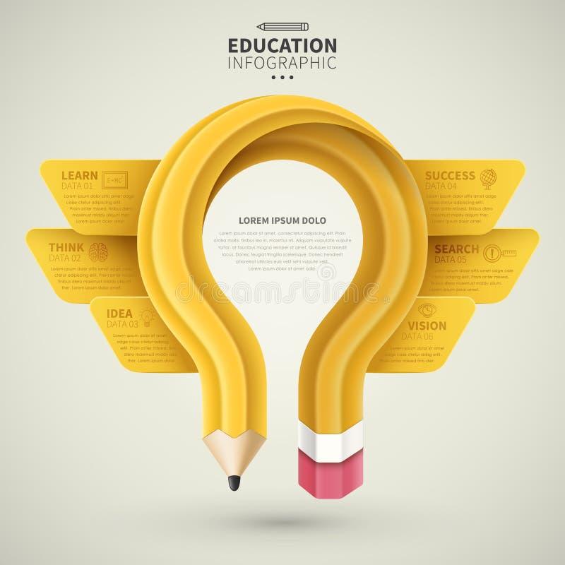 Edukacja infographic projekt royalty ilustracja