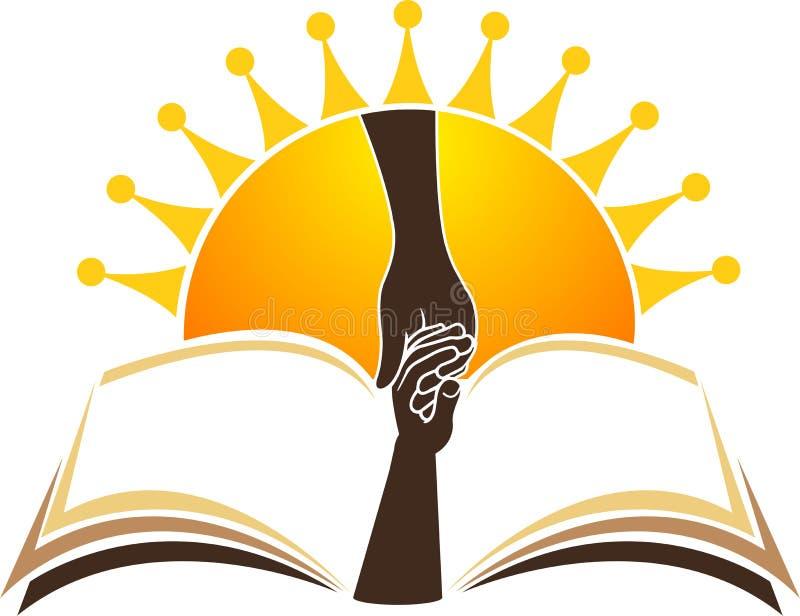 Edukacja jaskrawy logo royalty ilustracja
