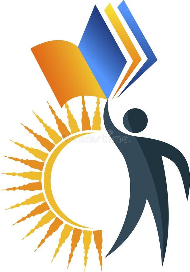 edukacja jaskrawy logo ilustracja wektor