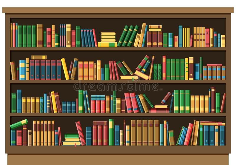 Edukacja książkowego sklepu biblioteczny pojęcie royalty ilustracja