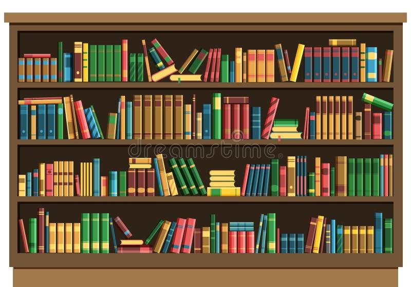 Edukacja książkowego sklepu biblioteczny pojęcie ilustracji