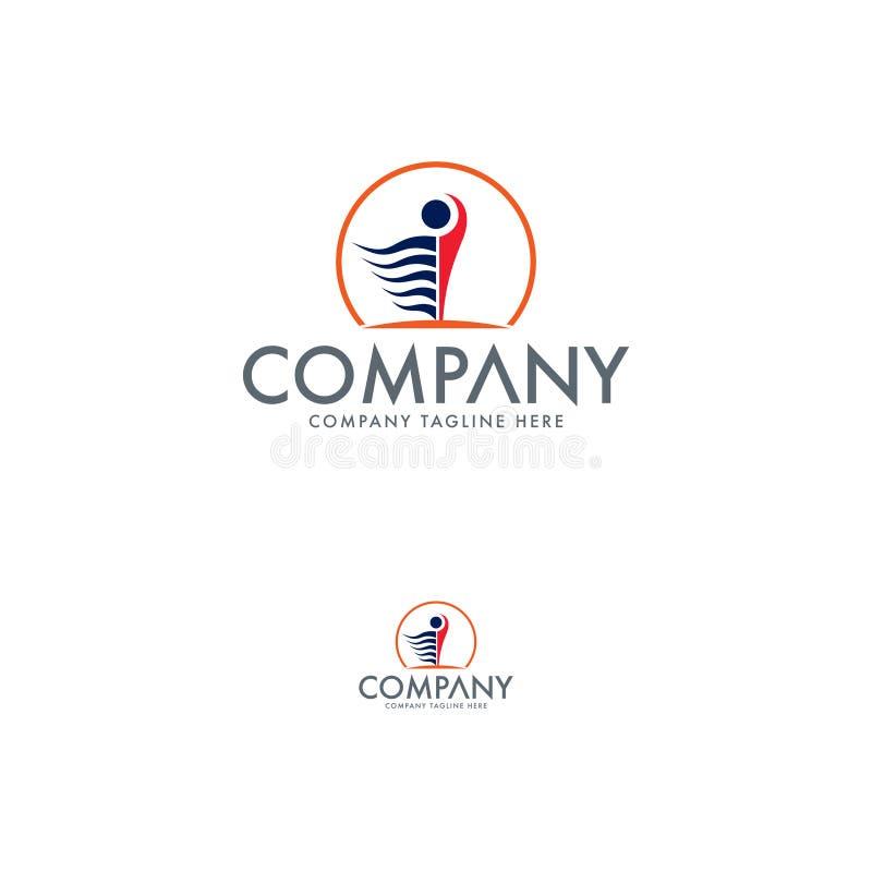 Edukacja loga projekta szablon ludzki logo ilustracja wektor