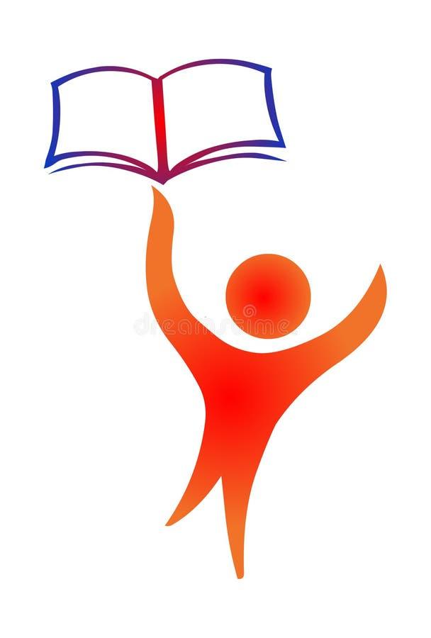 Edukacja logo ikony wektor Łapie książkową ilustrację royalty ilustracja