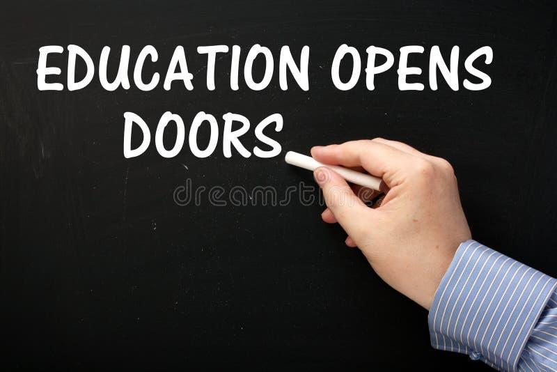 Edukacja Otwiera drzwi obrazy royalty free