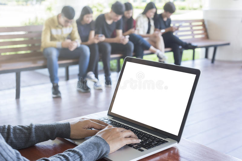 Edukacja, szkoła średnia, technologia i ludzie pojęć, zdjęcia royalty free