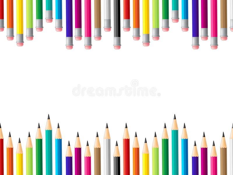 Edukacja Szkolna I Colourful Reprezentujemy koloru rozwój royalty ilustracja