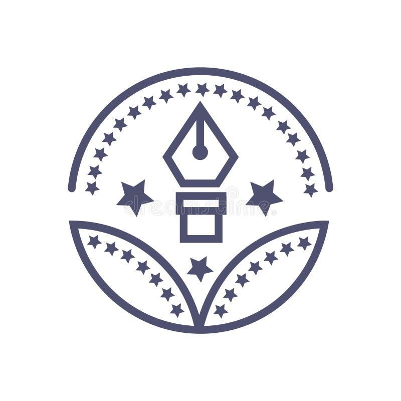Edukacja uczenie nagrody ikony uczenie wektorowy znak ilustracja wektor