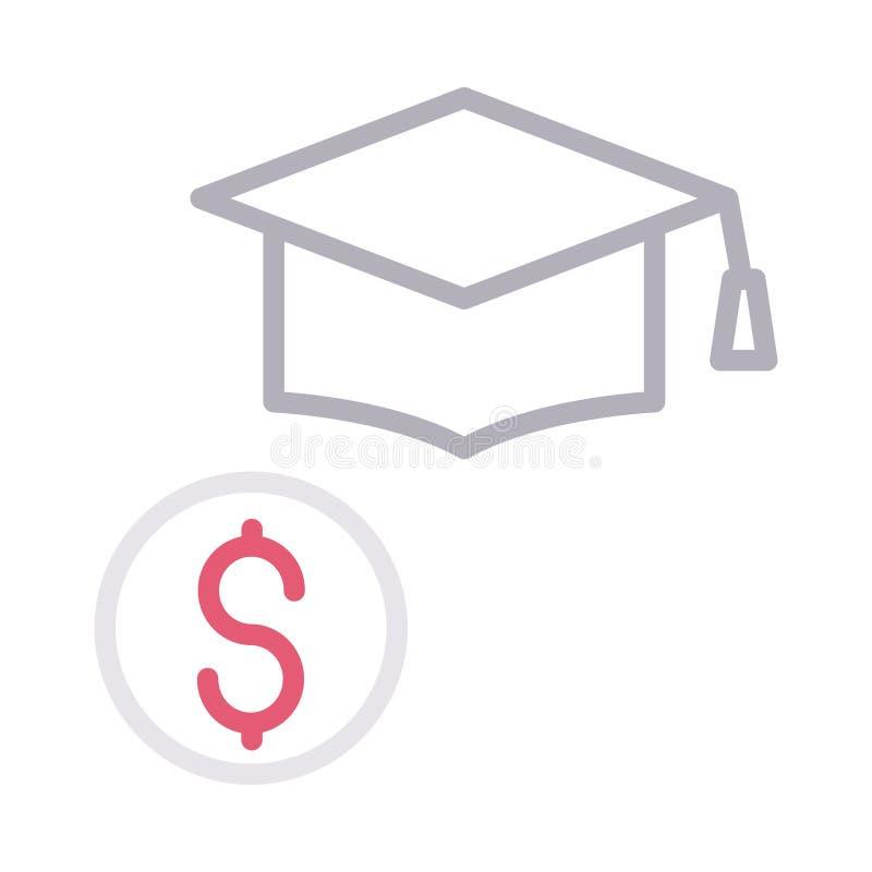 Edukacji expance koloru wektoru cienka kreskowa ikona ilustracja wektor