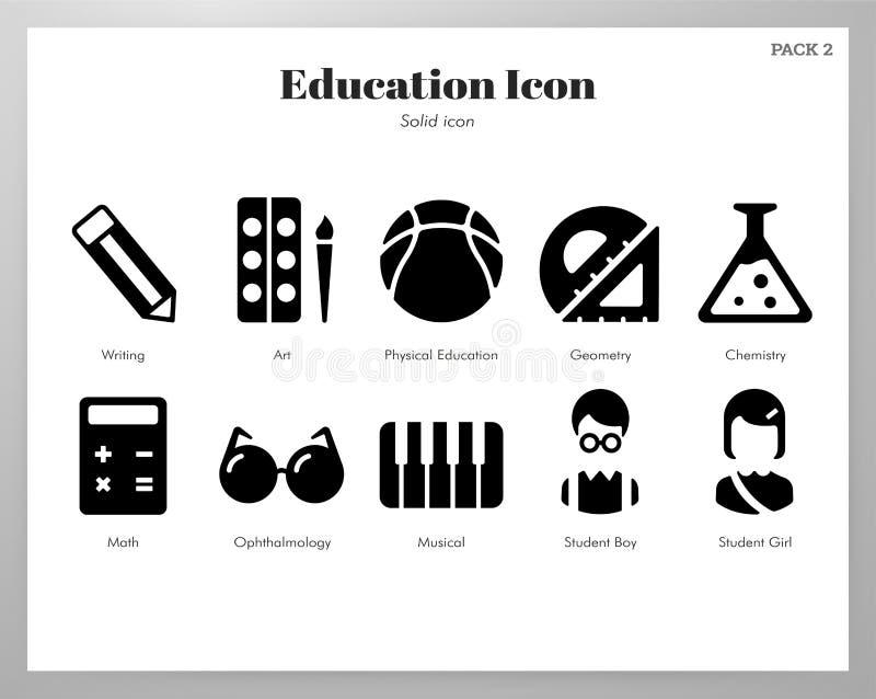 Edukacji ikon bryły paczka ilustracji