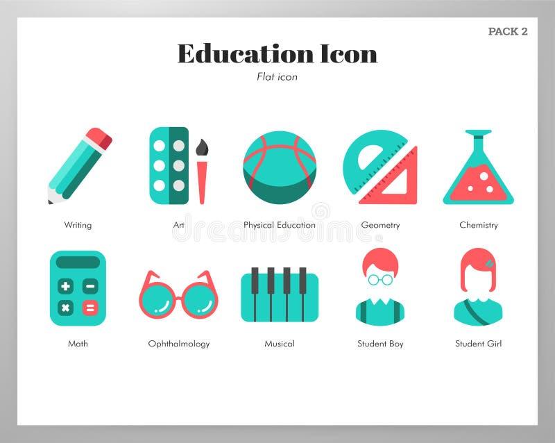 Edukacji ikon p?aska paczka ilustracji