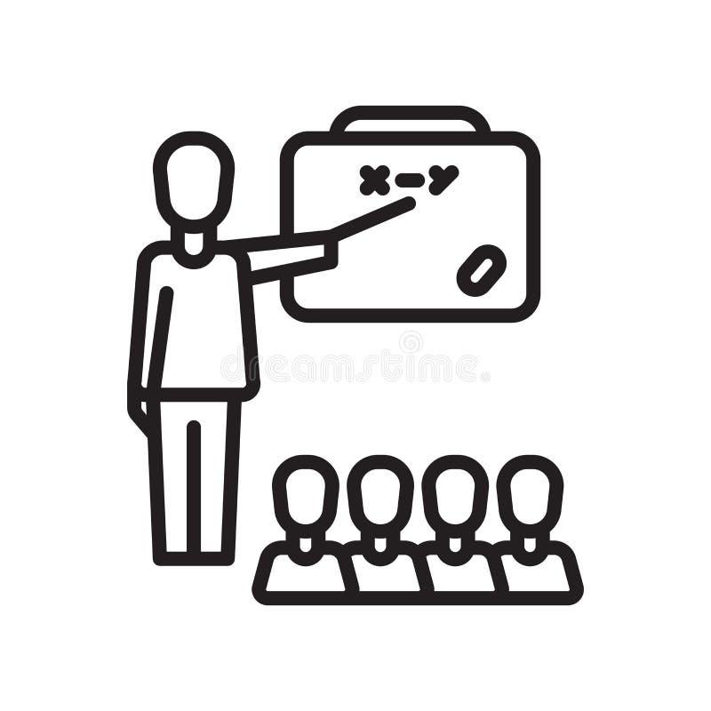 Edukacji ikony wektoru znak i symbol odizolowywający na białym backgrou ilustracja wektor