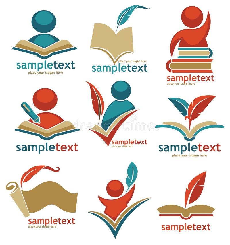 Edukacyjna logo kolekcja ilustracja wektor